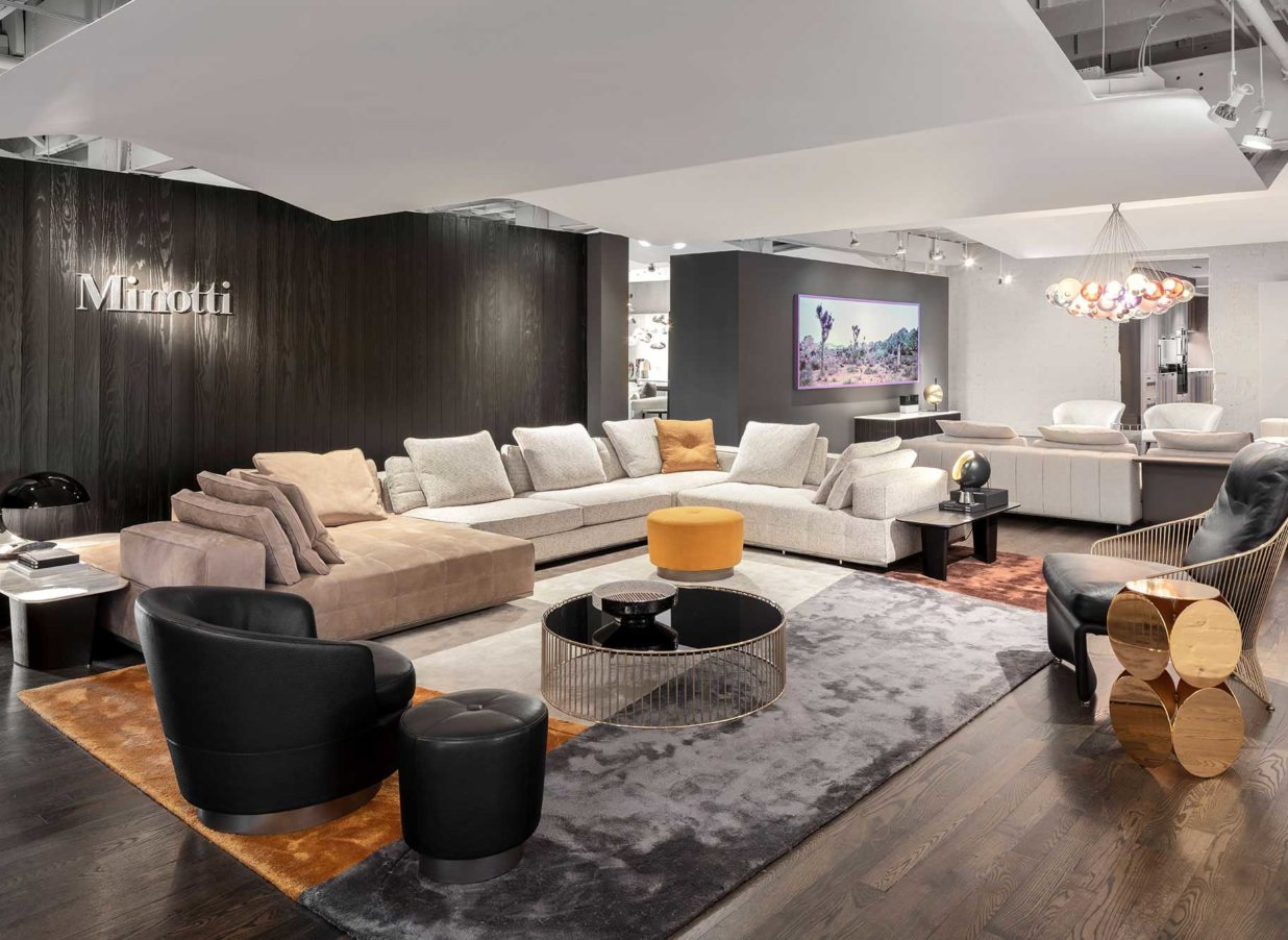 living room image of minotti furniture